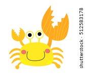 fiddler crab animal cartoon... | Shutterstock .eps vector #512583178