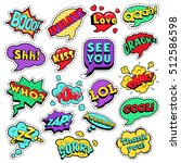 fashion badges  patches ... | Shutterstock .eps vector #512586598