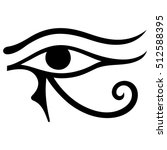 the ancient egyptian moon sign  ... | Shutterstock .eps vector #512588395