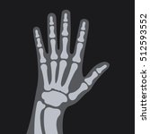 x rays style human hand. vector | Shutterstock .eps vector #512593552