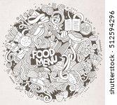 cartoon cute doodles hand drawn ...   Shutterstock .eps vector #512594296