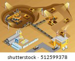 mining and metal extraction... | Shutterstock .eps vector #512599378