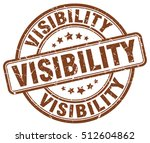 visibility stamp. brown round... | Shutterstock .eps vector #512604862