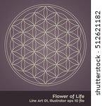 flower of life   intersecting... | Shutterstock .eps vector #512621182
