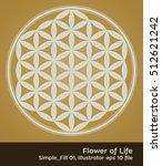 flower of life   intersecting...   Shutterstock .eps vector #512621242