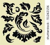 floral elements for design | Shutterstock .eps vector #51262156