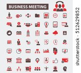 business meeting icons | Shutterstock .eps vector #512629852