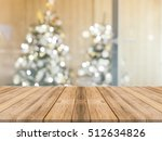 Wooden Board Empty Table Top O...