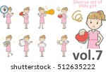diverse set of little girl  ... | Shutterstock .eps vector #512635222