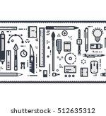 horizontally seamless designer... | Shutterstock .eps vector #512635312