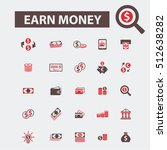 earn money icons  | Shutterstock .eps vector #512638282