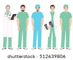 group of medical staff people ... | Shutterstock .eps vector #512639806