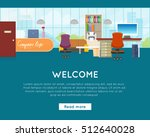 welcome to office concept web... | Shutterstock .eps vector #512640028