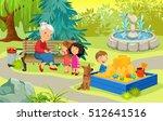 happy grandmother with... | Shutterstock .eps vector #512641516