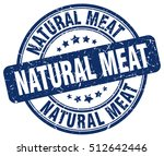 natural meat stamp.  blue round ... | Shutterstock .eps vector #512642446