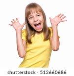 half length emotional portrait...   Shutterstock . vector #512660686