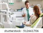 female dentist in dental office ... | Shutterstock . vector #512661706