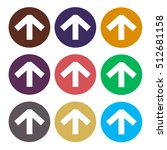 up arrow sign icons set. simple ... | Shutterstock .eps vector #512681158
