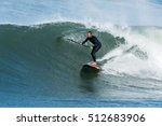stand up paddle surfer on the... | Shutterstock . vector #512683906