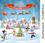 happy new year and merry... | Shutterstock .eps vector #512685412