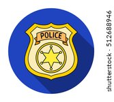 police officer badge icon in... | Shutterstock .eps vector #512688946