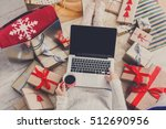 christmas online shopping top... | Shutterstock . vector #512690956