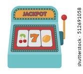 slot machine icon in cartoon... | Shutterstock .eps vector #512691058