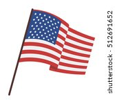 flag of the united states icon... | Shutterstock .eps vector #512691652