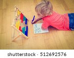 little boy learning numbers at... | Shutterstock . vector #512692576