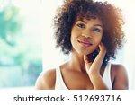 young good looking black woman...   Shutterstock . vector #512693716