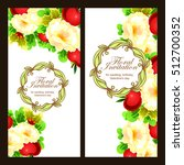 vintage delicate invitation... | Shutterstock . vector #512700352