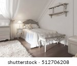children's white bed with... | Shutterstock . vector #512706208