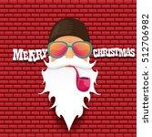 vector rock n roll santa claus... | Shutterstock .eps vector #512706982