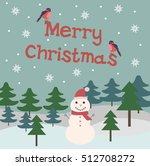 merry christmas greeting card... | Shutterstock .eps vector #512708272