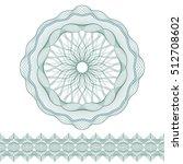 set  guilloche pattern rosette...   Shutterstock .eps vector #512708602