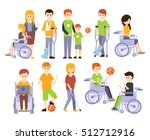 physically handicapped people... | Shutterstock .eps vector #512712916