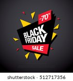 black friday sale banner. black ... | Shutterstock .eps vector #512717356