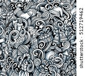 cartoon doodles new year season ... | Shutterstock . vector #512719462