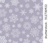 seamless pattern of snowflakes | Shutterstock .eps vector #512730922