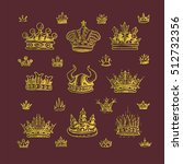 set of decorative victorian...   Shutterstock .eps vector #512732356