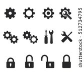 vector settings and lock icons...