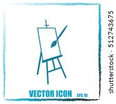 easel vector icon | Shutterstock .eps vector #512743675