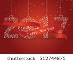 happy new year 2017  the number ... | Shutterstock .eps vector #512744875