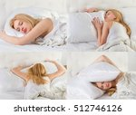 young woman in bed  | Shutterstock . vector #512746126