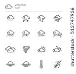 Weather Forecast Vector Line...