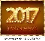 the 2017 new year symbol with... | Shutterstock .eps vector #512748766