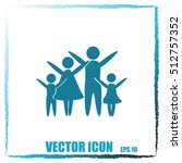 family vector icon | Shutterstock .eps vector #512757352