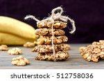 gluten free banana cookies with ...   Shutterstock . vector #512758036
