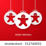 christmas paper card with... | Shutterstock .eps vector #512760052