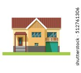 house facade. traditional... | Shutterstock .eps vector #512761306